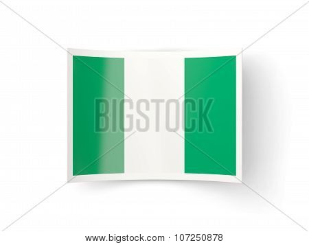Bent Icon With Flag Of Nigeria