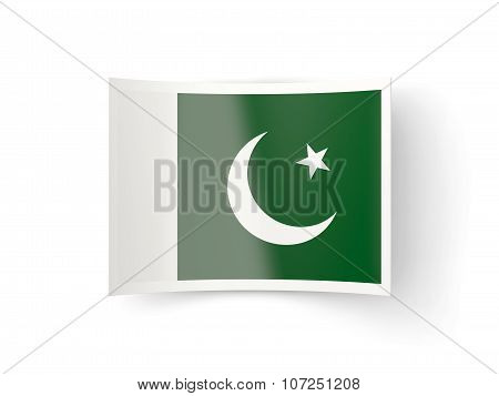 Bent Icon With Flag Of Pakistan