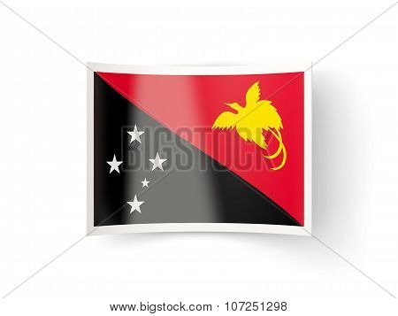 Bent Icon With Flag Of Papua New Guinea