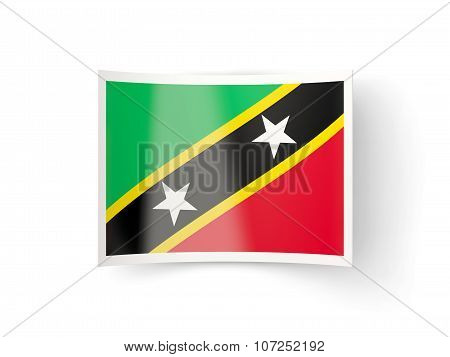 Bent Icon With Flag Of Saint Kitts And Nevis