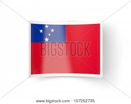 Bent Icon With Flag Of Samoa