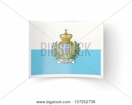 Bent Icon With Flag Of San Marino