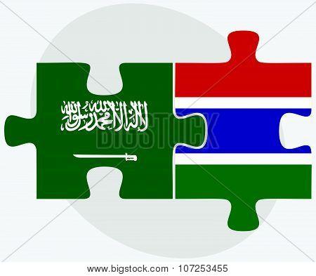 Saudi Arabia And Gambia Flags