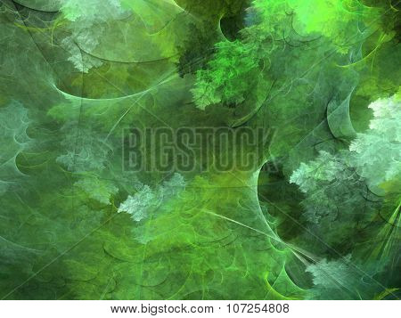 Abstract shapes made of fractal textures.