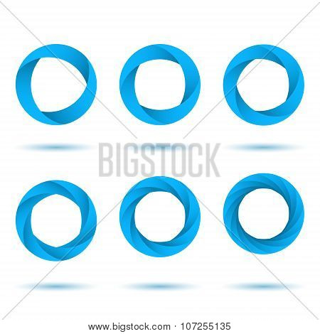 Blue Segmented Circles
