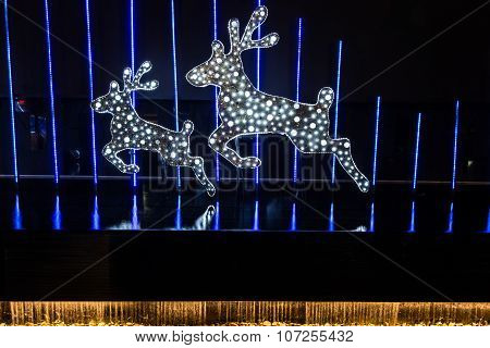Christmas Decorated With Deer