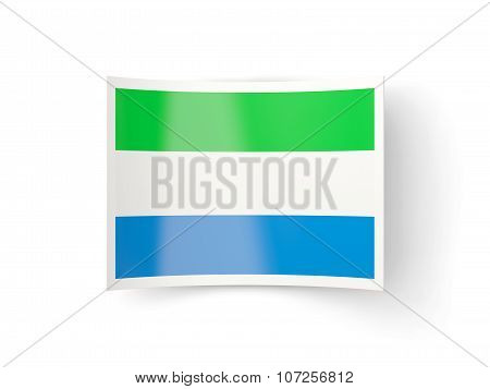 Bent Icon With Flag Of Sierra Leone