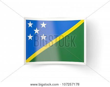 Bent Icon With Flag Of Solomon Islands