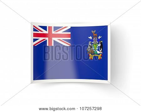 Bent Icon With Flag Of South Georgia And The South Sandwich Islands
