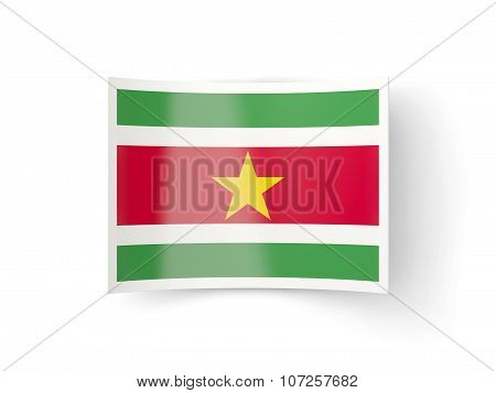 Bent Icon With Flag Of Suriname