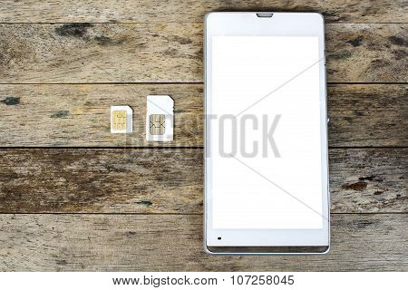 What's type of sim card can use on your mobile smart phone white screen