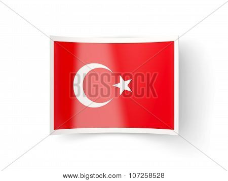Bent Icon With Flag Of Turkey
