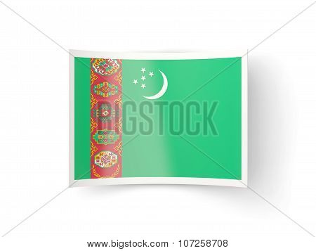 Bent Icon With Flag Of Turkmenistan