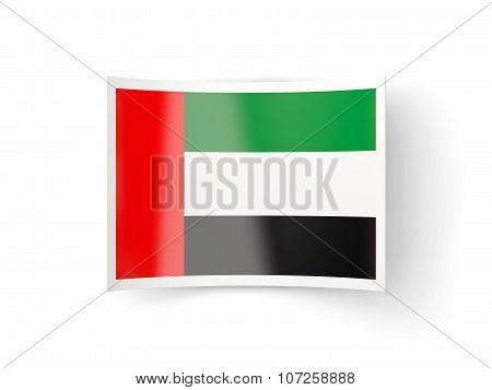 Bent Icon With Flag Of United Arab Emirates