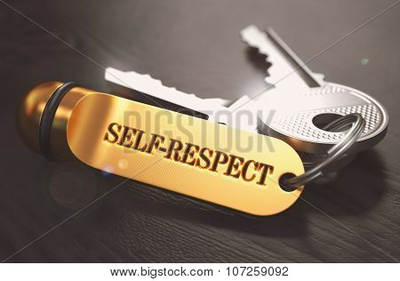 Self-Respect written on Golden Keyring.