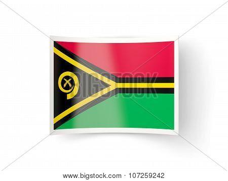 Bent Icon With Flag Of Vanuatu