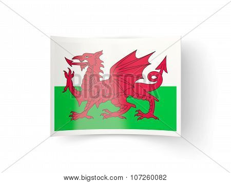 Bent Icon With Flag Of Wales