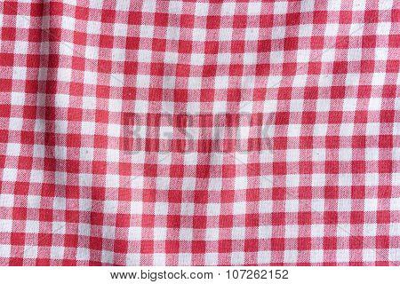 Checkered Fabric Texture.