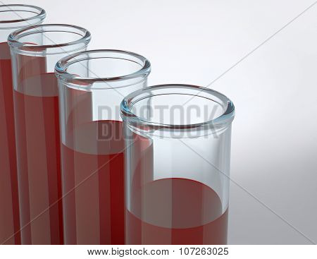 Tubes Test With Blood Samples