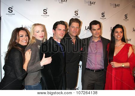 LOS ANGELES - DEC 4:  Lilly Melgar, Adrienne Frantz, Scott Bailey, Sean Kanan, Rick Hearst, Mrs. Kanan at the