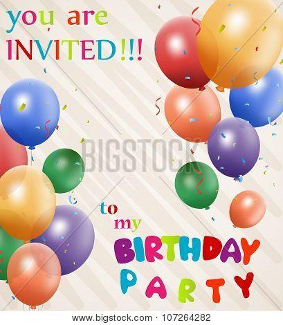Birthday Invitation background