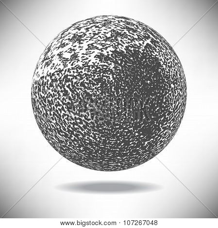 Background ball engraved dots and spots in vintage style