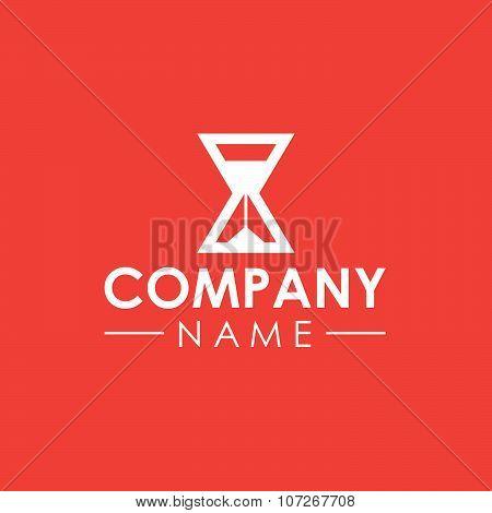 Sand clock company vector logo template