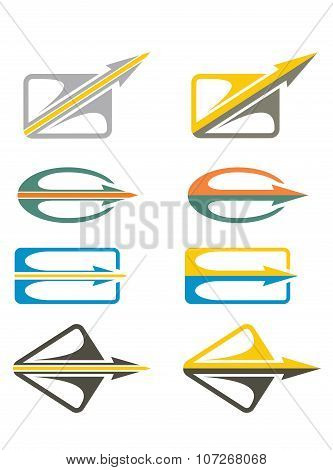 Different Abstract Arrows Icon Set