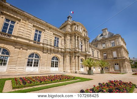 Luxembourg Palace situated in Luxemburg Gardens (Jardin du Luxembourg) in Paris, France.