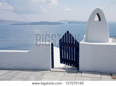 Seaview from the main street of Oia, Santorini