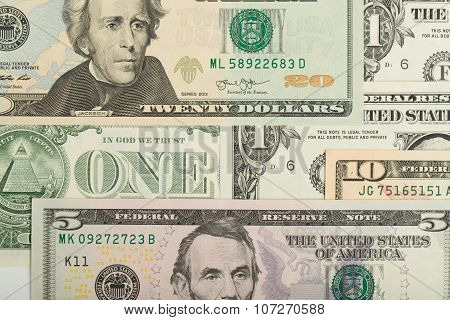 Usa Dollar Money Banknotes Background