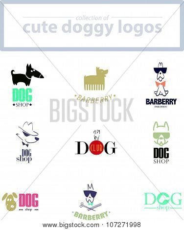 Vector collection of dog logo.