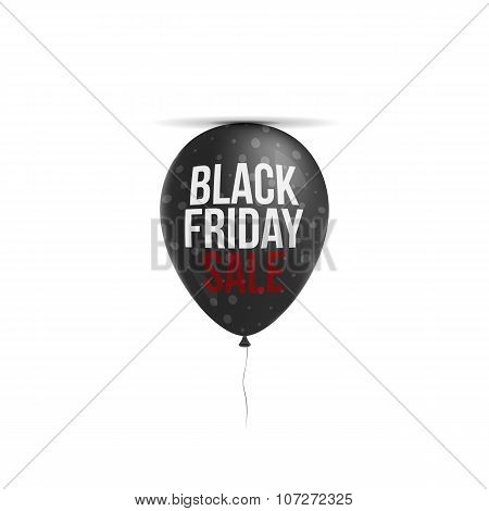 Black Friday Sale Text on realistic Balloon