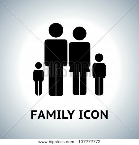 Vector family icon on light background.g