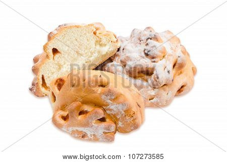 Two Buns With Jam On A Light Background