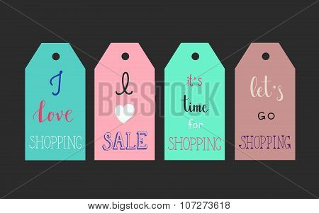 Shopping Labels Signs