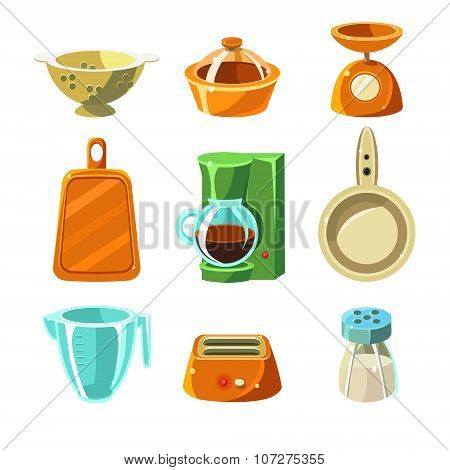 Kitchen Utensils Vector Illustration