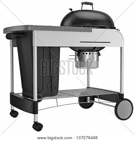 Grilling with charcoal grill for heat resistant steel