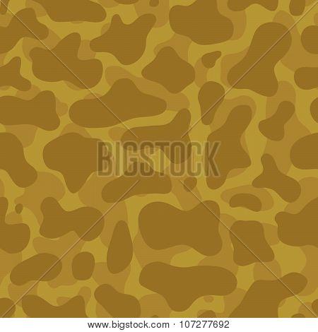 Desert camouflage seamless vector pattern