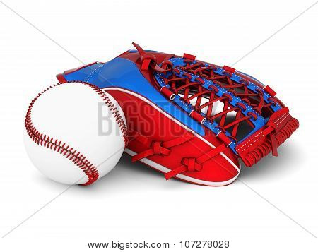 Leather Glove With Baseball