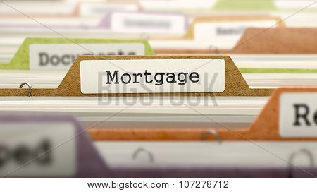 File Folder Labeled as Mortgage.