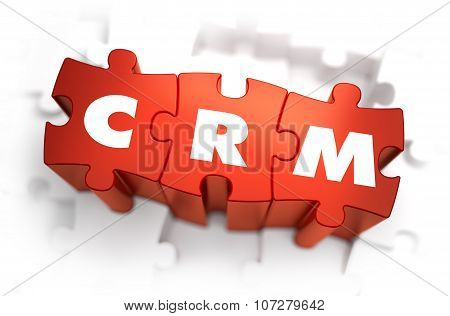 Word - CRM on Red Puzzles.