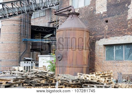Outdoor Of Paper Mill - Poland