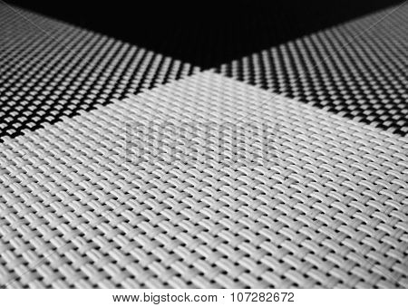 Black and white plastic place mat