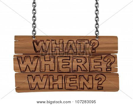 Wooden Blackboard with questions (clipping path included)