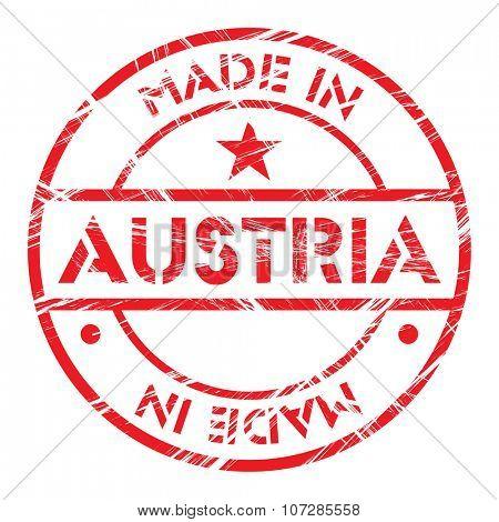 Made in Austria grunge rubber stamp