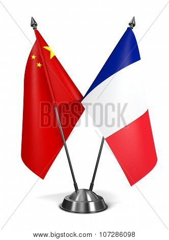 China and France - Miniature Flags.