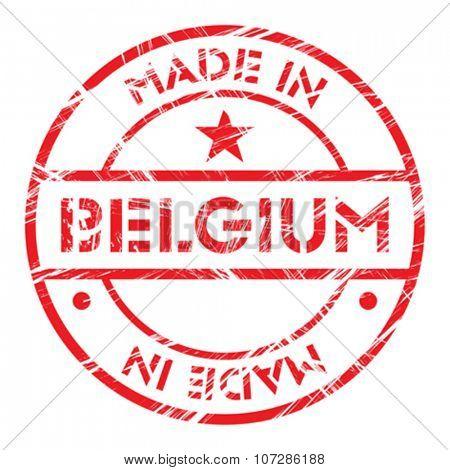 Made in Belgium grunge rubber stamp