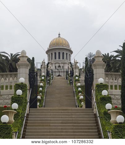Haifa Bahai Temple and beautiful gardens Israel