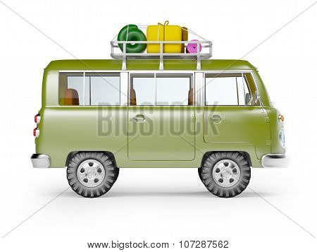 safari van with roofrack side